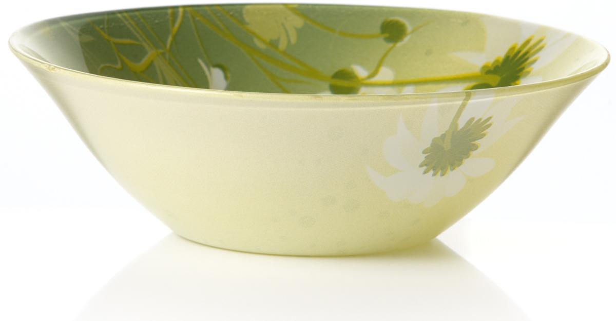 "Салатник Pasabahce ""Камилла"", цвет: зеленый, диаметр 14 см"