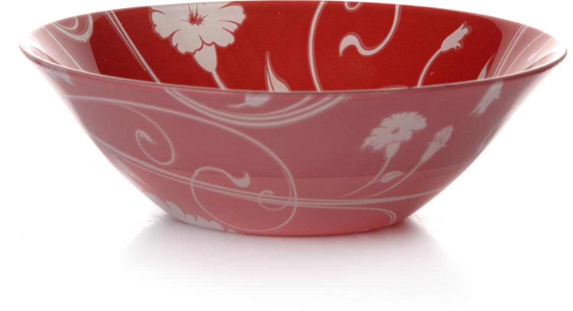 Салатник Pasabahce Рэд серенейд, цвет: красный, диаметр 14 см салатник pasabahce pleasure 14 см