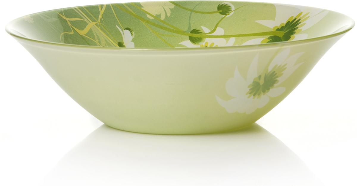 "Салатник Pasabahce ""Камилла"", цвет: зеленый, диаметр 23 см"