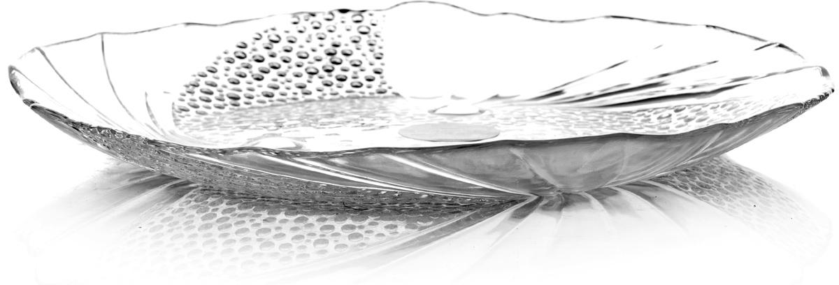 Тарелка Pasabahce Папийон, цвет: прозрачный, диаметр 24 см тарелка pasabahce атлантис цвет прозрачный диаметр 21 см
