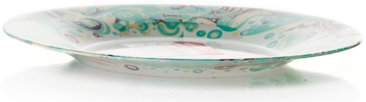 Тарелка Pasabahce Красота. Домашний, цвет: белый, диаметр 19,5 см10327SLBD25Тарелка Pasabahce изготовлена из упрочненного закаленного натрий-кальций- силикатного стекла с повышенной термостойкостью.