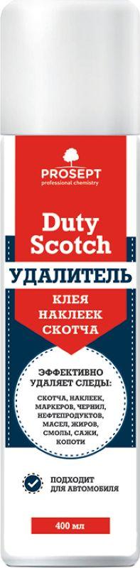 Чистящее средство Prosept Duty Scotch, для удаления клея, наклеек, скотча, 0,4 л специальное чистящее средство prosept duty graffiti для удаления граффити маркера краски 0 4 л