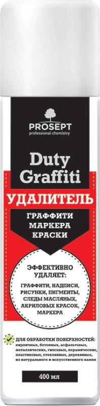 """Специальное чистящее средство Prosept """"Duty Graffiti"""", для удаления граффити, маркера, краски, 0,4 л"""