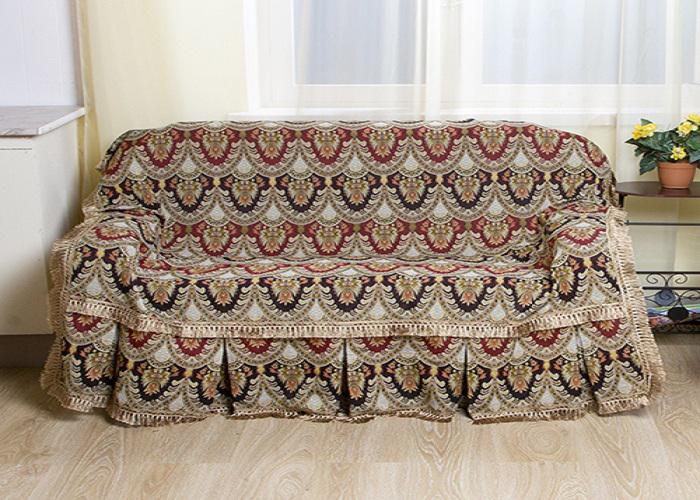 Набор чехлов для дивана и кресел МарТекс Персидские узоры, 3 предмета. 05-0302 набор чехлов для дивана и кресел мартекс с карманами 3 предмета 05 0751 3
