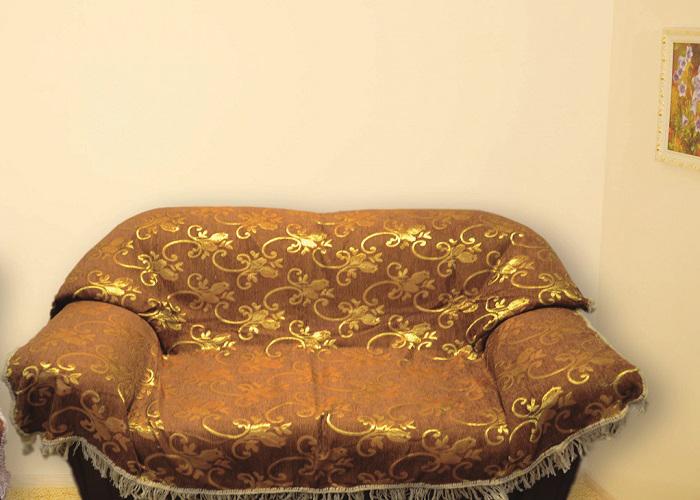 Набор чехлов для дивана и кресел МарТекс, цвет: золотой, 3 предмета набор чехлов для дивана и кресел мартекс с карманами 3 предмета 05 0751 3