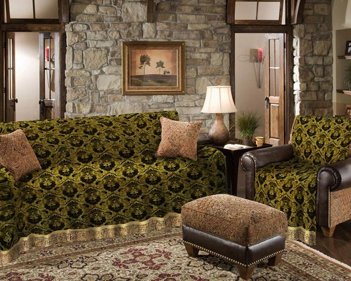 Набор чехлов для дивана и кресел МарТекс, 3 предмета. 05-0439 набор чехлов для дивана и кресел мартекс с карманами 3 предмета 05 0751 3