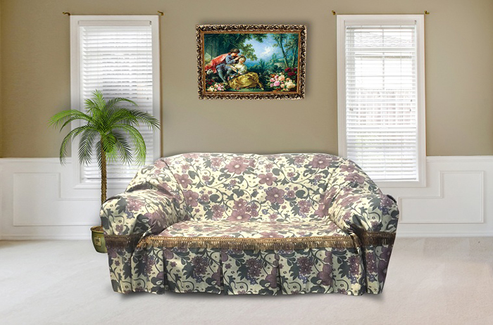 Набор покрывал для дивана и кресел МарТекс Аленький цветочек, 3 предмета. 05-0577-2 набор чехлов для дивана и кресел мартекс с карманами 3 предмета 05 0751 3