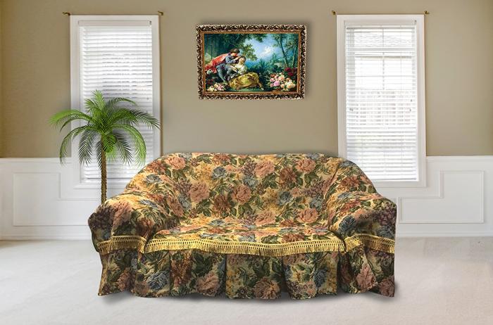 Набор чехлов для дивана и кресел МарТекс Примула, 3 предмета. 05-0653-3 набор чехлов для дивана и кресел мартекс с карманами 3 предмета 05 0751 3