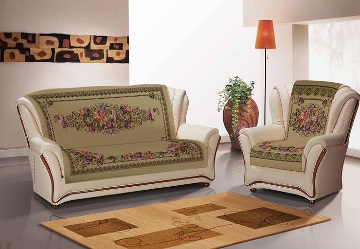 Набор чехлов для дивана и кресел МарТекс Хельга, 3 предмета. 05-0711-2 набор чехлов для дивана и кресел мартекс с карманами 3 предмета 05 0751 3