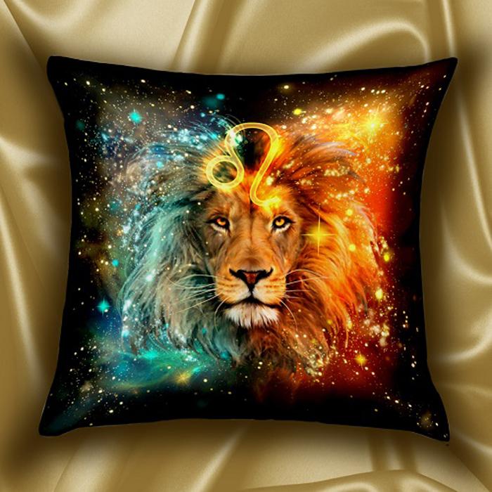 Подушка декоративная МарТекс Звездный круг. Лев, 45 х 45 см худи print bar звездный лев