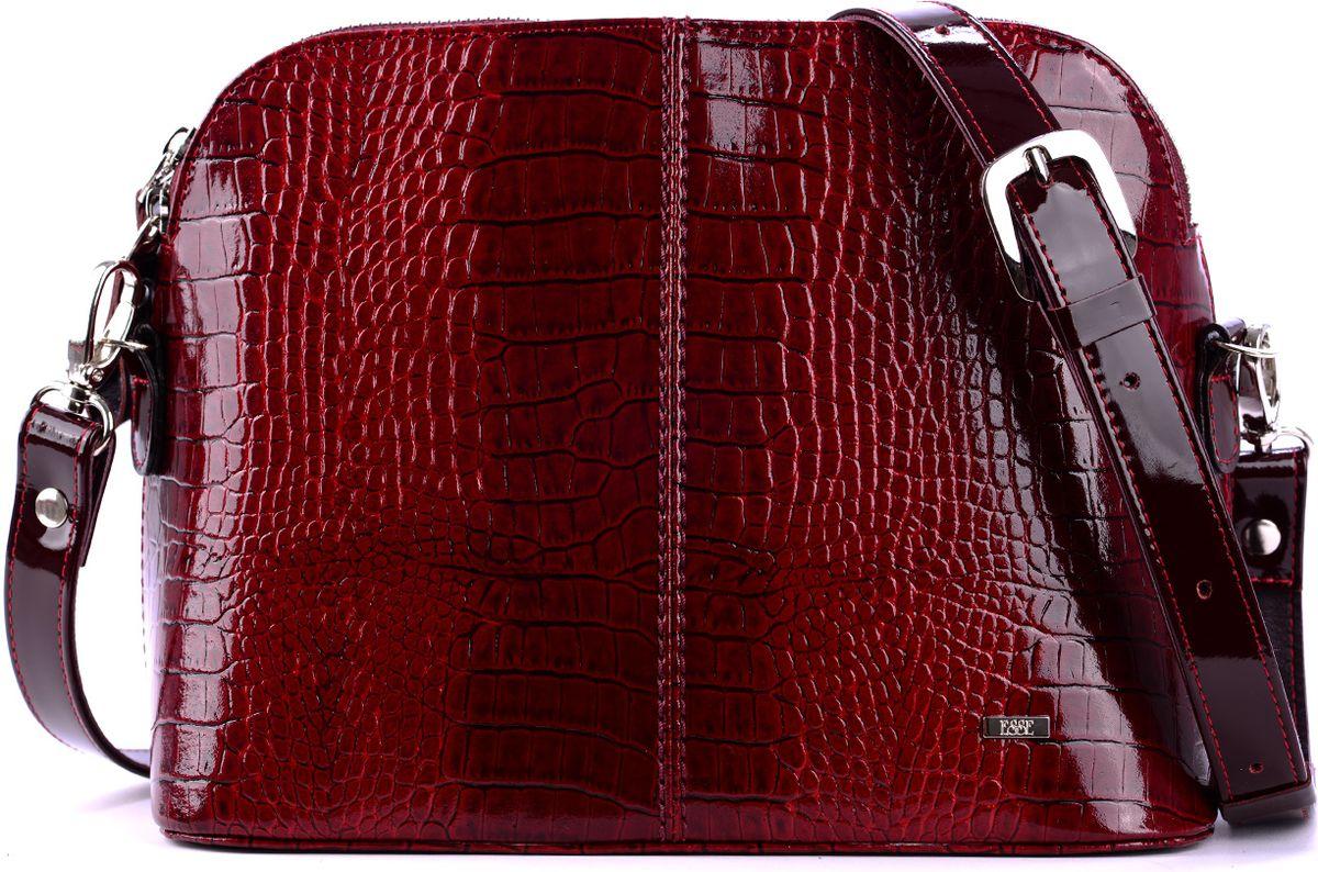 Сумка женская Esse Ребекка, цвет: бордовый. GREB2U-00ML09-FI506O-K100 обложка для паспорта женская esse page цвет бордовый gpge00 000000 fi506o k100