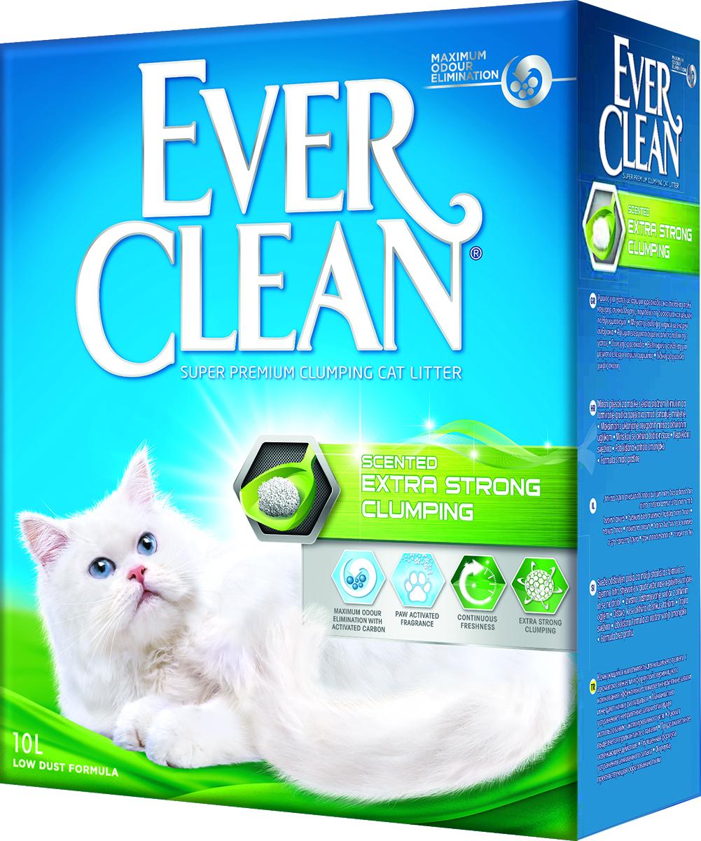 Наполнитель для кошачьего туалета Ever Clean Extra Strong Clumping Scented, комкующийся, с ароматизатором, 10 л