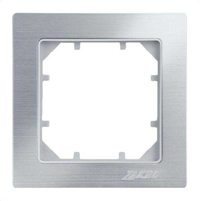 Рамка электроустановочная Zakru Clasico, цвет: белый металл, на 1 пост рамка для розеток и выключателей горизонтальная 1 пост цвет бежевый