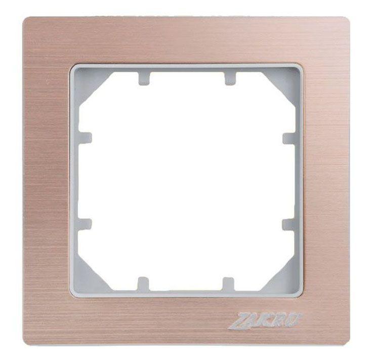 Рамка электроустановочная Zakru Clasico, цвет: золотистый, на 1 пост рамка для розеток и выключателей горизонтальная 1 пост цвет бежевый