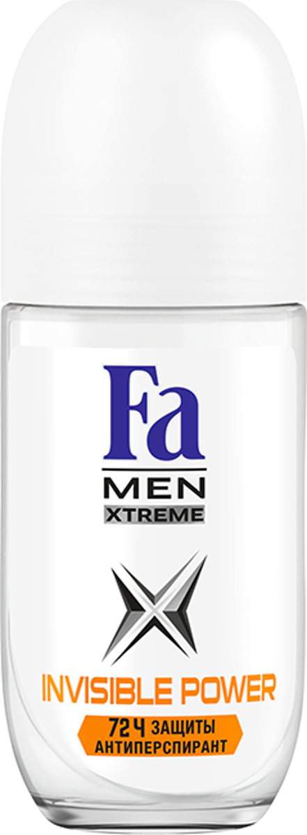 FA MEN Xtreme Дезодорант роликовый Invisible, 50 мл