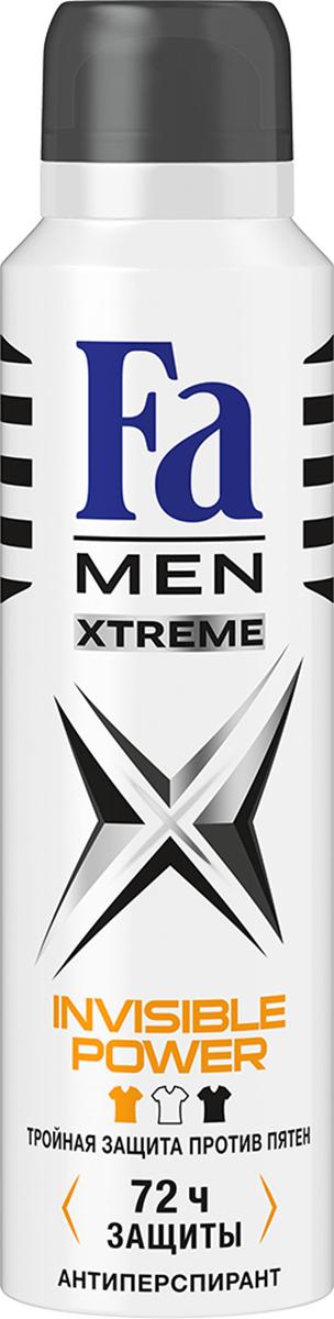 FA MEN Xtreme Дезодорант-аэрозоль Invisible, 150 мл