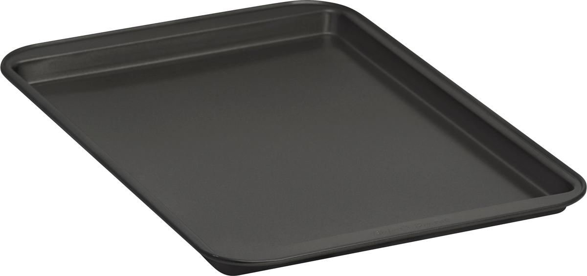 Форма для выпечки печенья Bakers Secret Essentials, 33 х 23 см, цвет: темно-серый. 11144111114411Форма для выпечки печенья Bakers Secret Essentials выполнена из высококачественной стали. Внешнее антипригарное покрытие для удобства ухода и утолщенные стенки гарантируют равномерное пропекание изделия. Стальные формы для запекания стали популярными намного позже чугунных и керамических, и главное их преимущество - это абсолютная химическая нейтральность. Качественная нержавеющая сталь никак не скажется на вкусе готовой пищи и не будет подвержена воздействию кислот и щелочей, содержащихся в моющих средствах. Можно мыть в посудомоечной машине.