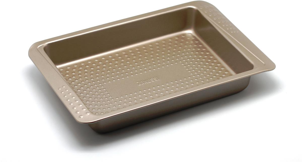 Форма для запекания Zanussi Turin, цвет: бронзовый, 32,5 х 21,6 х 5 см электрический духовой шкаф beko bim 24301 wcs