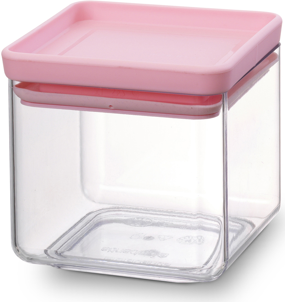 """Контейнер для сыпучих продуктов Brabantia """"Tasty Colors"""", цвет: прозрачный, розовый, 700 мл. 290060"""