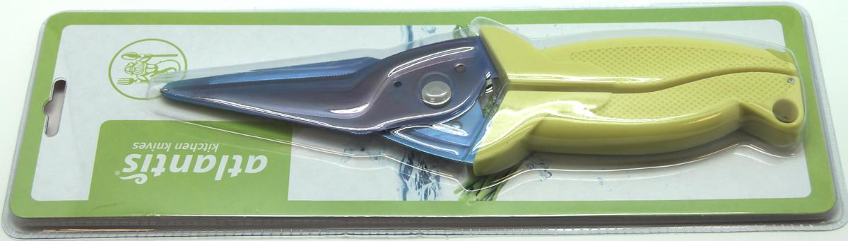 Ножницы кухонные Atlantis, универсальные, цвет: салатовый. 18LF-1001-G ножницы кухонные atlantis универсальные цвет синий 18lf 1001 b