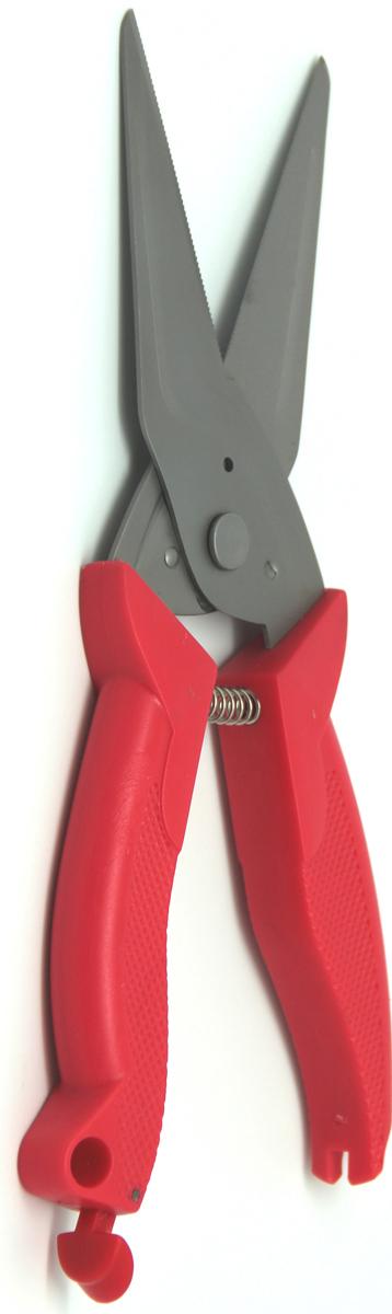 Ножницы кухонные Atlantis, универсальные, цвет: красный. 18LF-1001-R ножницы кухонные atlantis универсальные цвет синий 18lf 1001 b