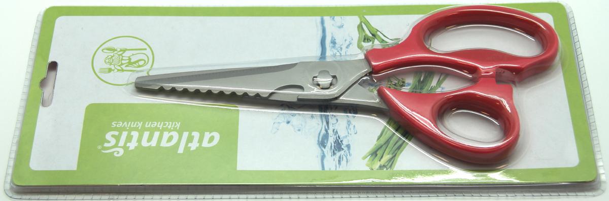 Ножницы кухонные Atlantis, разборные, цвет: красный. 18LF-1002-R ножницы кухонные atlantis универсальные цвет синий 18lf 1001 b
