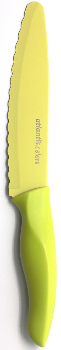 """Нож универсальный """"Atlantis"""", цвет: зеленый, длина лезвия 15 см. 6D-G"""