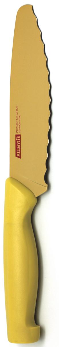 """Нож универсальный """"Atlantis"""", цвет: желтый, длина лезвия 15 см. 6D-Y"""