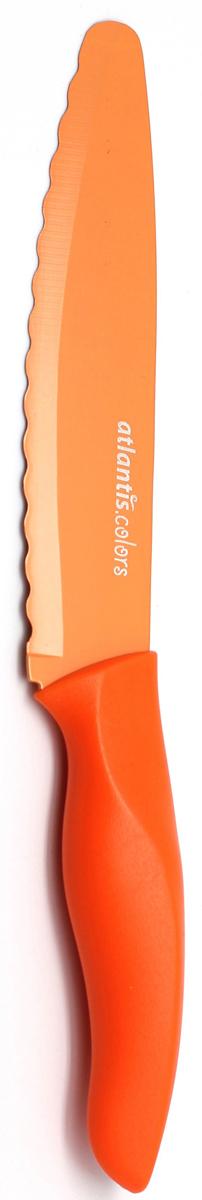 """Нож универсальный """"Atlantis"""", цвет: оранжевый, длина лезвия 15 см. 6D-O"""