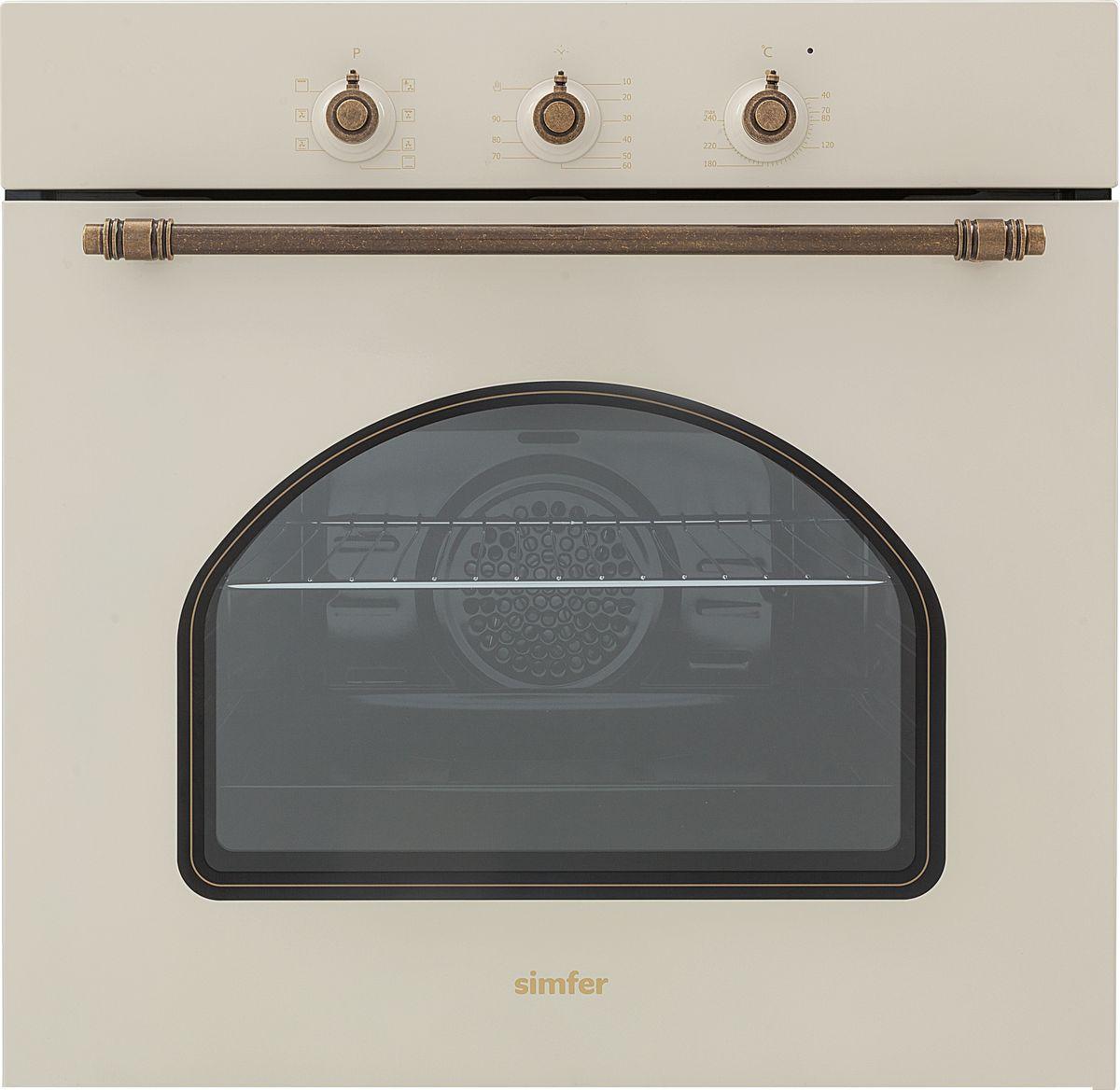 лучшая цена Электрический духовой шкаф встраиваемый Simfer B6EO18017, White