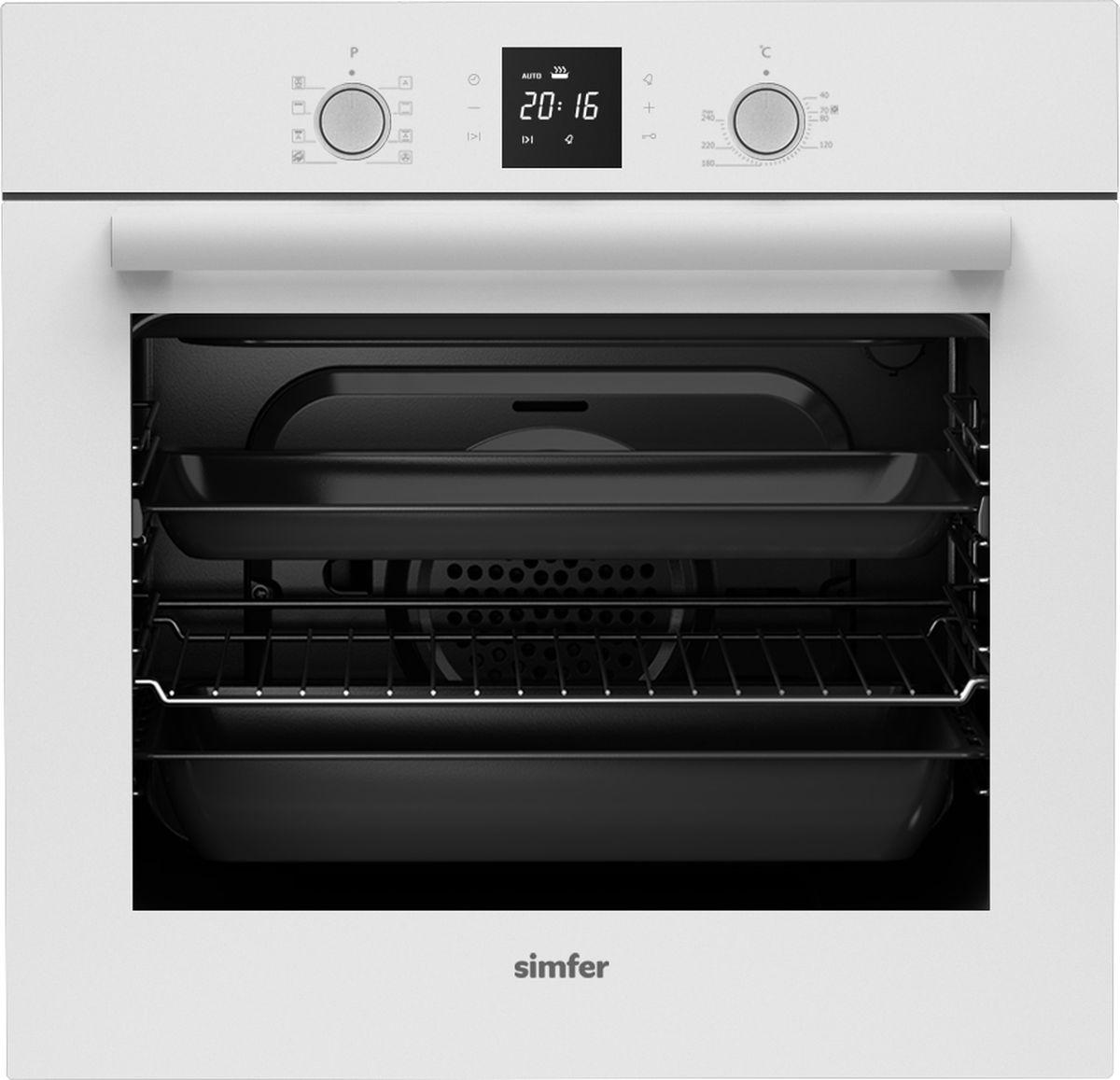 Электрический духовой шкаф встраиваемый Simfer B6EC68011, White
