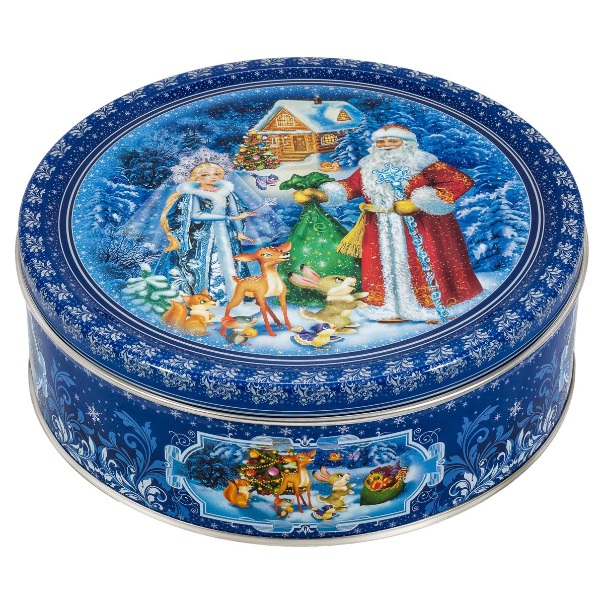 Сладкая Сказка Печенье Дед Мороз и Снегурочка, 400 г сладкая сказка снегурочка синий подарочный шар карамель магнит 18 г
