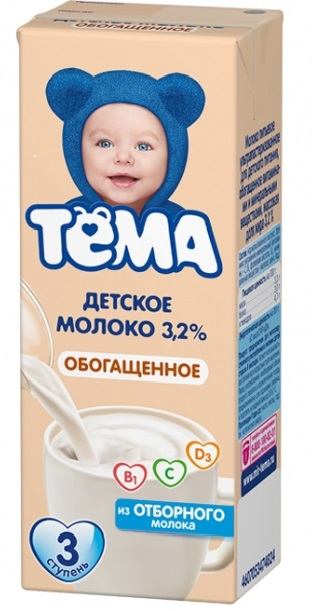 Тема Молоко, обогащенное витаминами, 200 мл