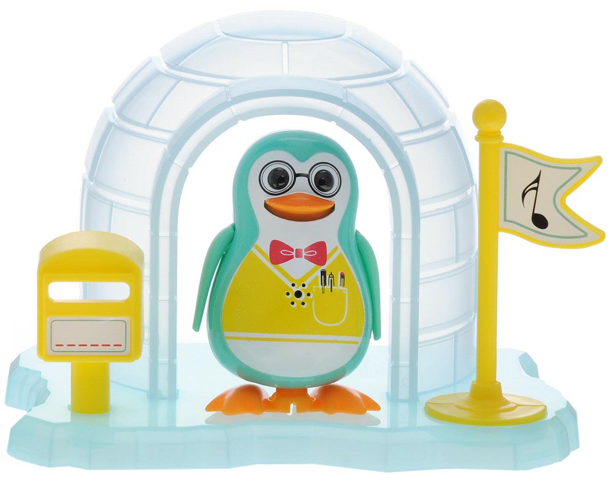 DigiFriends Интерактивная игрушка Пингвин с домиком цвет бирюзовый