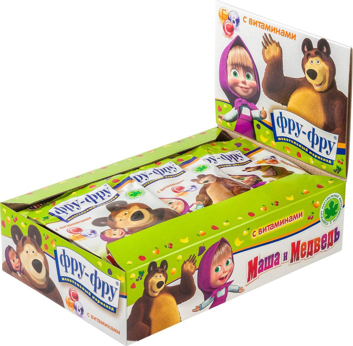 Фру-Фру Маша и Медведь Азбука мармелад жевательный с витаминами, 720 г (24 шт)