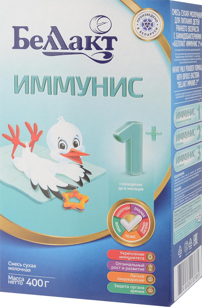 Беллакт Иммунис 1+ смесь молочная сухая с рождения, 400 г беллакт плюс смесь молочная сухая с 12 месяцев 400 г