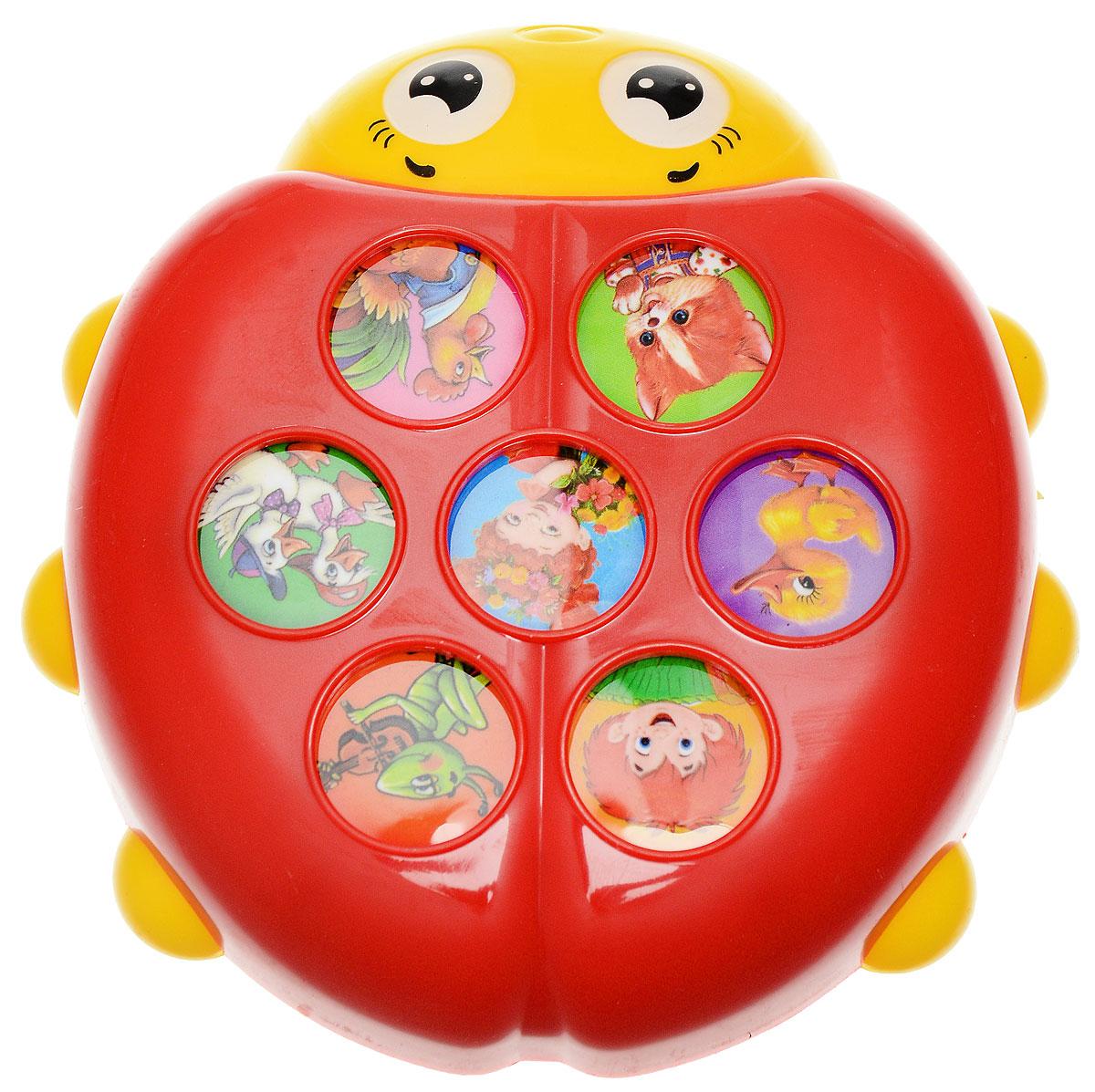 Азбукварик Электронная игрушка Плеер Божья коровка азбукварик плеер азбукварик новогодние подарки