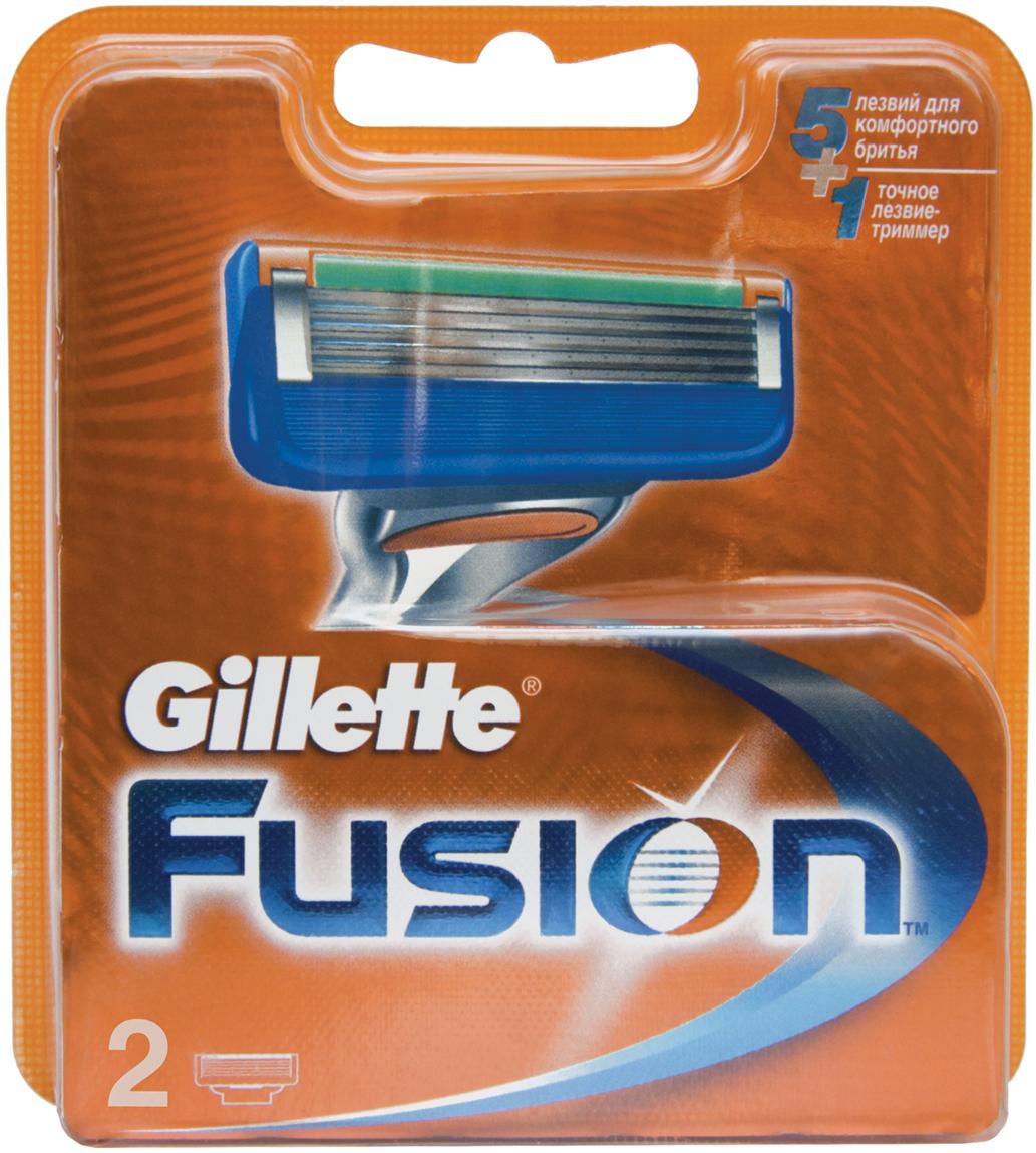 Сменные Кассеты Для Мужской Бритвы Gillette Fusion5 2 шт