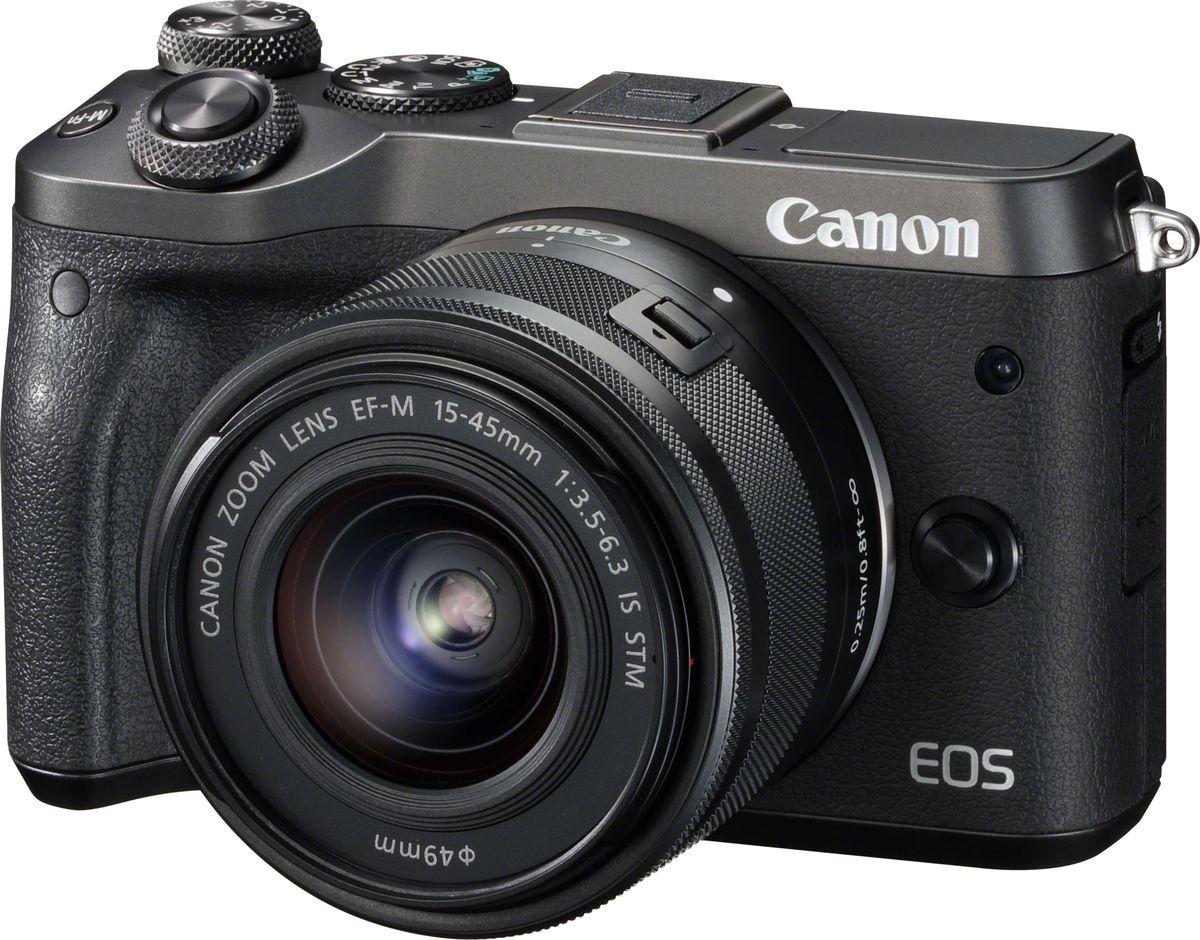 Беззеркальный фотоаппарат Canon EOS M6 Kit 15-45 IS STM, Black