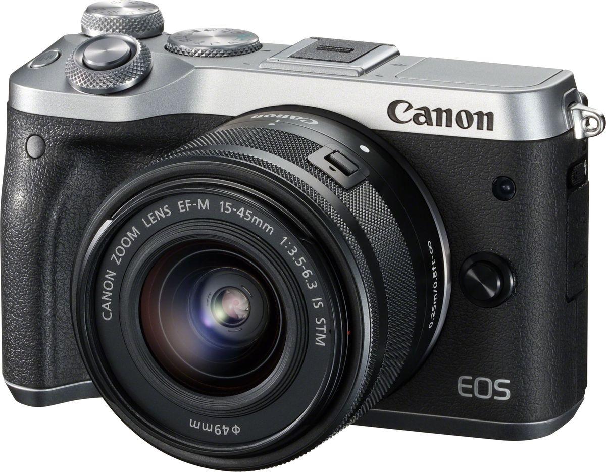 Беззеркальный фотоаппарат Canon EOS M6 Kit 15-45 IS STM, Silver