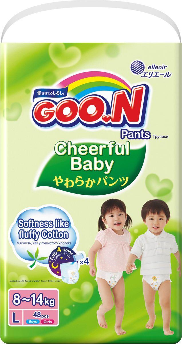 GOON Подгузники-трусики Cheerful L 8-14 кг 48 шт подгузники goon s 4 8 кг 84шт