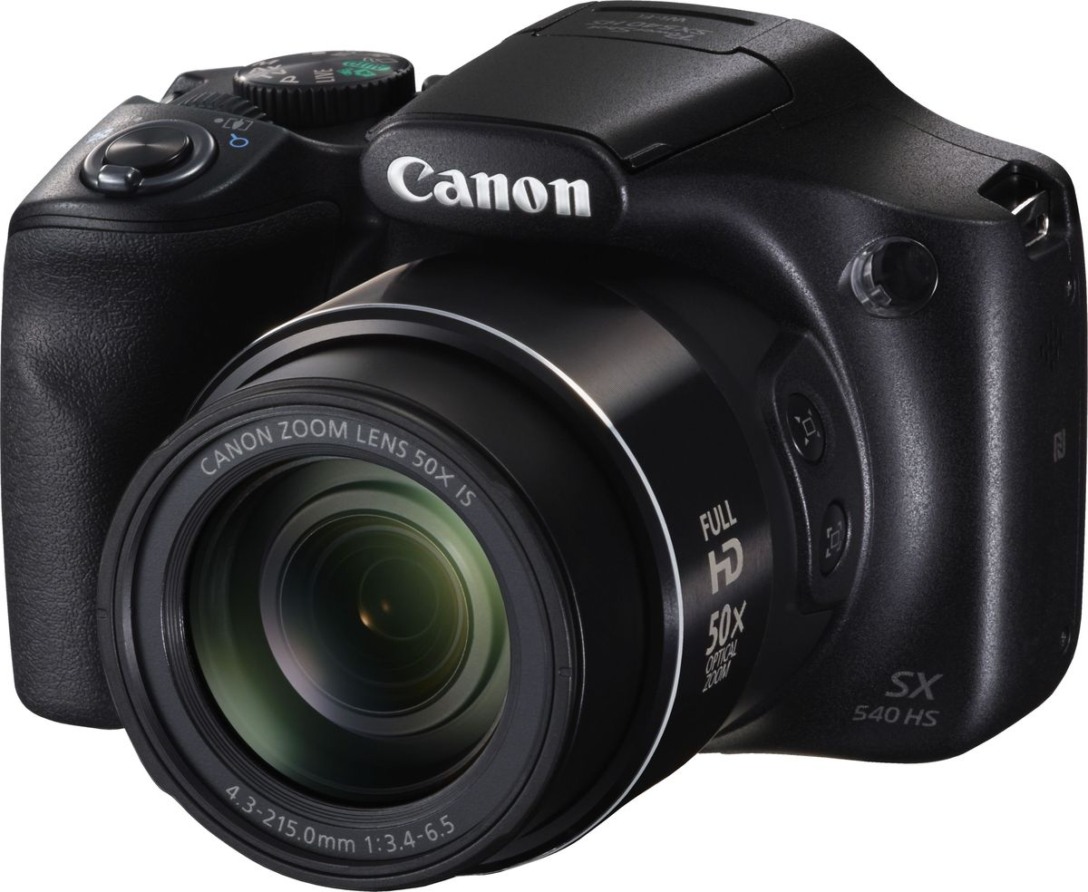 Компактный фотоаппарат Canon PowerShot SX540 HS, Black
