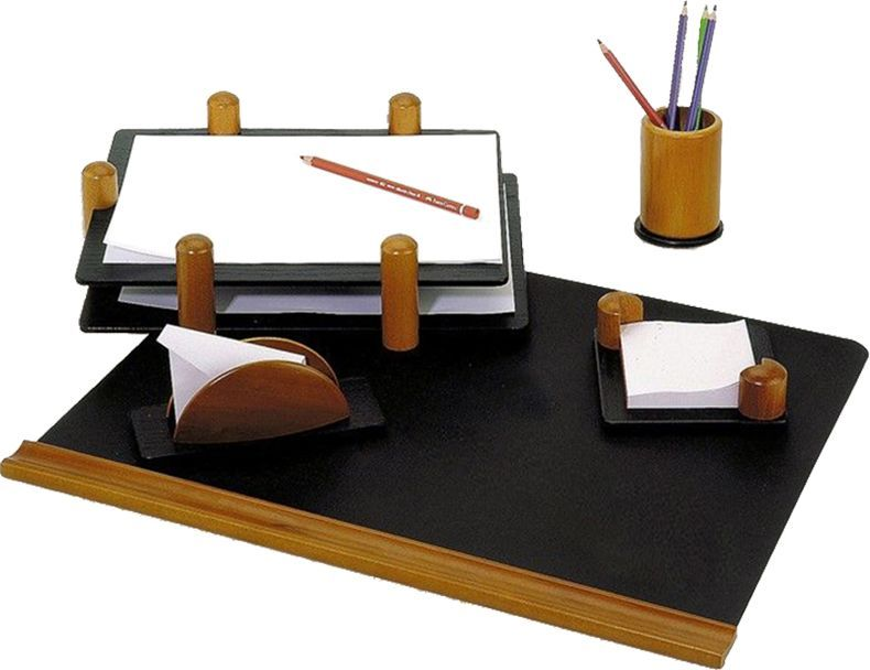 Delucci Настольный канцелярский набор 5 предметов цвет черное дерево подставка для бумажного полотенца regent