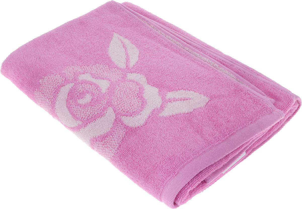 Полотенце банное Aquarelle Розы 1, 70 х 140 см, цвет: розовый. 710447 полотенце aquarelle розы 3 цвет розовый орхидея 50 х 90 см