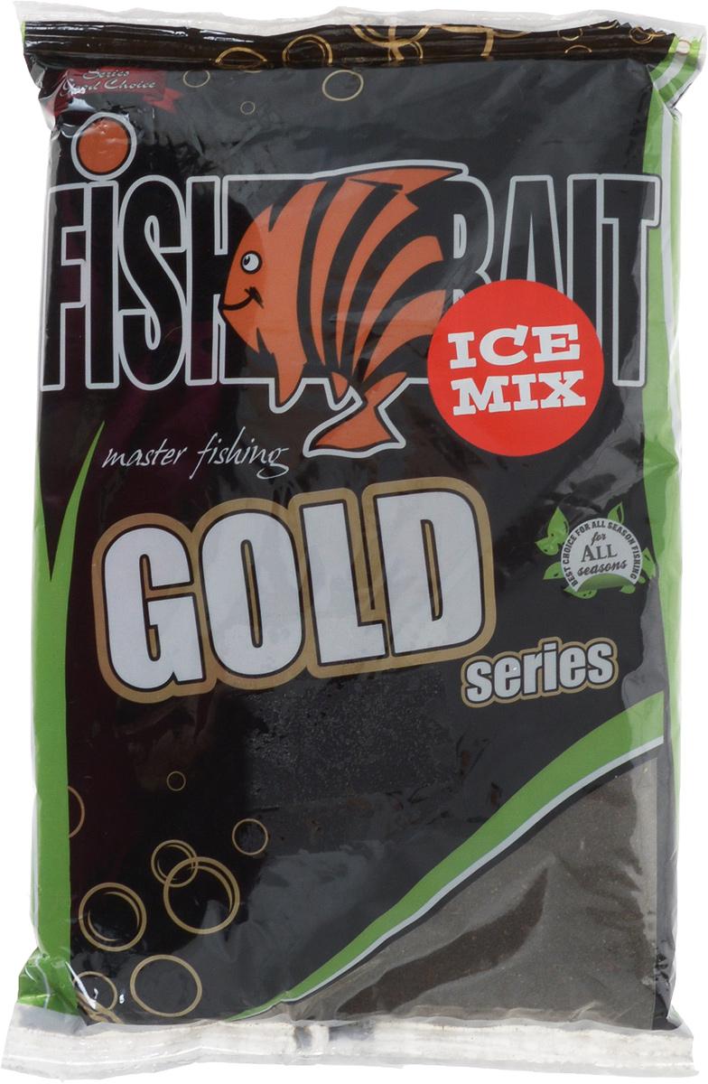 Прикормка для холодной воды FishBait Ice Gold. Плотва темная, зимняя, 1 кг
