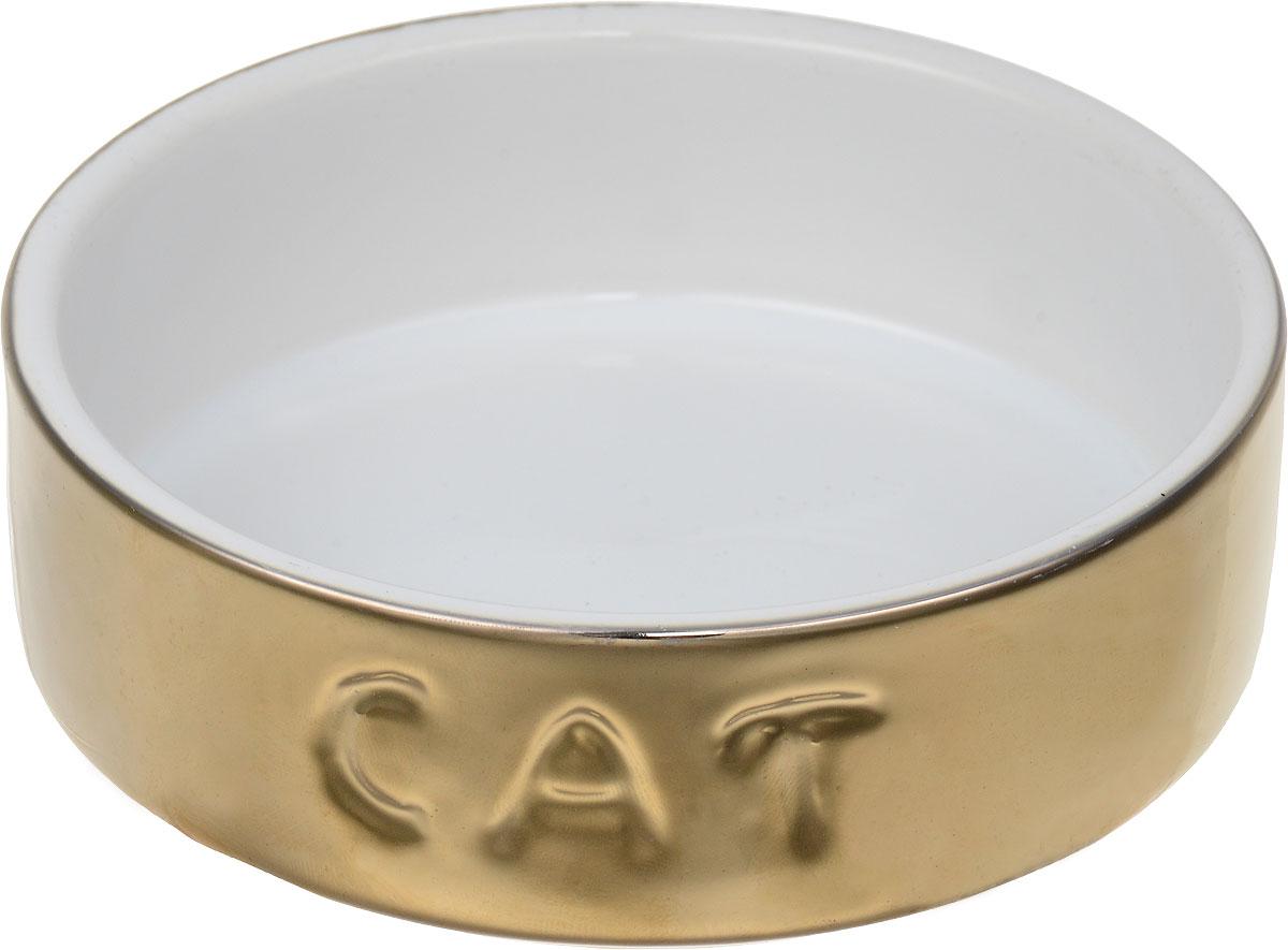 Миска для кошек I.P.T.S., цвет: золотистый, 200 мл миска для кошек i p t s цвет золотистый 200 мл