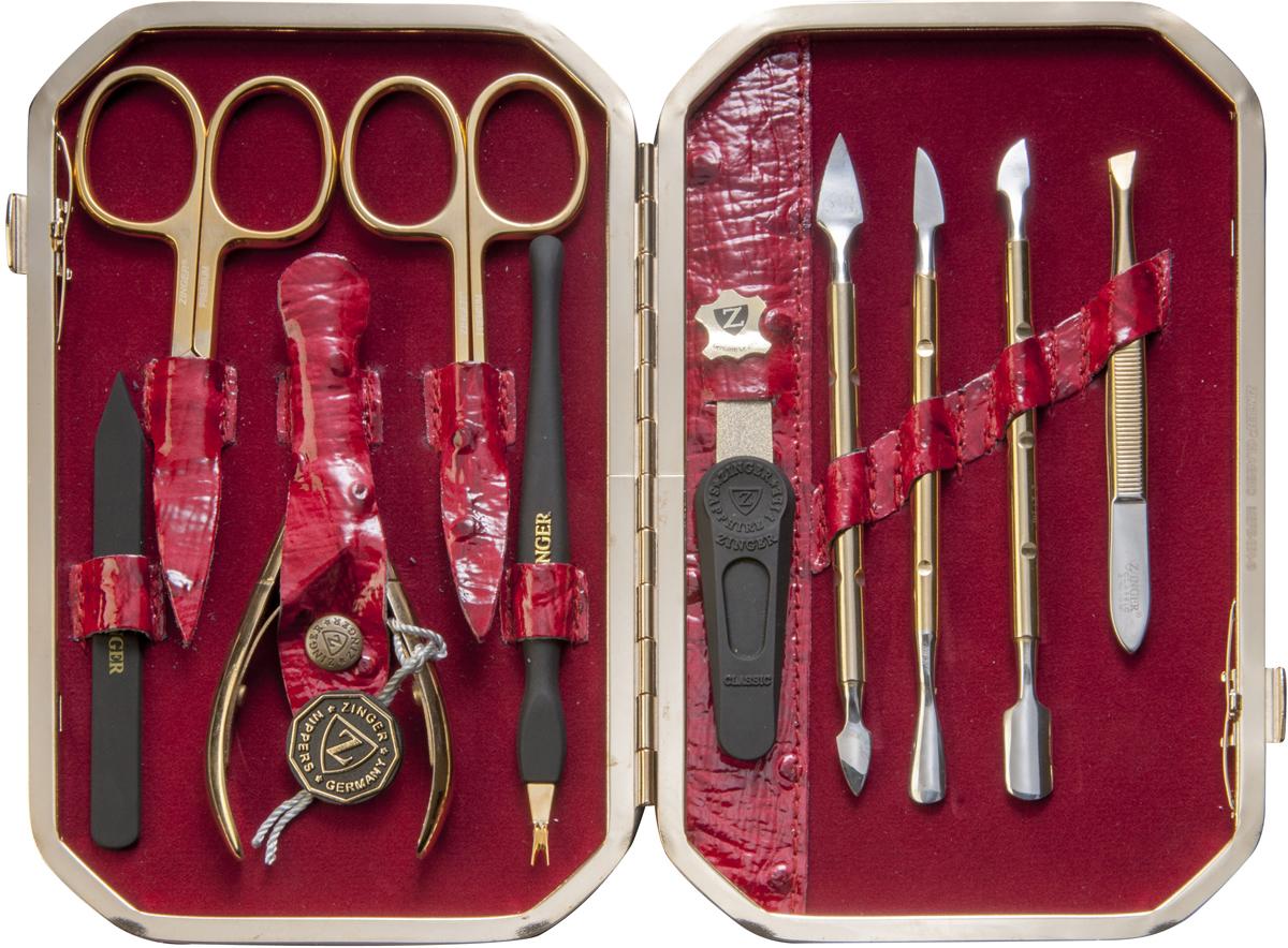 Zinger Маникюрный набор профессиональный (10 предметов) zMSFE 801-G цены