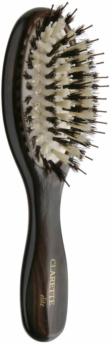 Щетка для волос на подушке со смешанной щетиной компакт, цвет: коричневый clarette щетка на подушке со смешанной щетиной clarette