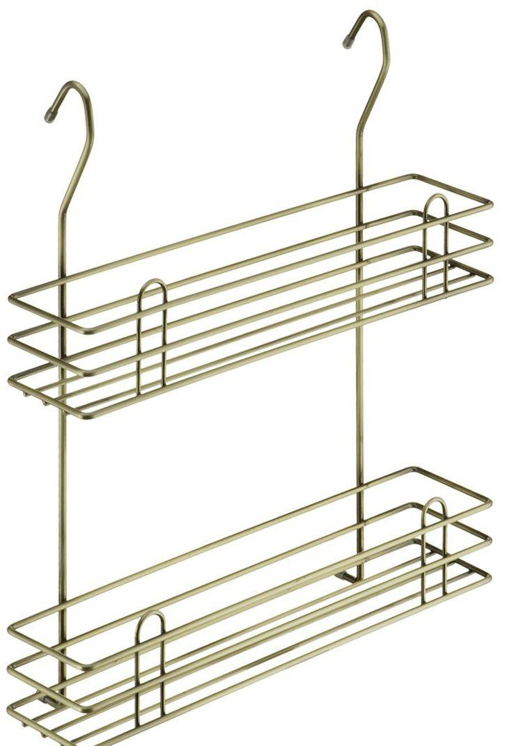 Полка для специй Lemax Тип-II, 2-ярусная, навесная, на рейлинг, цвет: бронза, 35 х 10,5 х 40 см соусы и специи