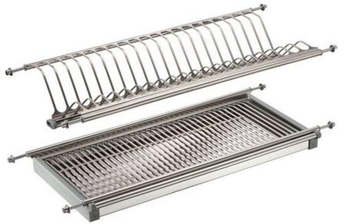 Сушилка для посуды Lemax, 2-уровневая, с поддоном, цвет: стальной, длина 80 смLE 800Сушилка для посуды Lemax изготовлена из нержавеющей стали и оснащена съемным поддоном для сбора воды. Изделие встраивается в кухонный шкаф. Благодаря своей функциональности, сушилка для посуды Lemax займет достойное место на вашей кухне и будет очень полезна любой хозяйке. Стильный, современный и лаконичный дизайн сделает сушилку прекрасным дополнением интерьера вашей кухни. Ширина сушилки: 26 см. Рекомендуем!